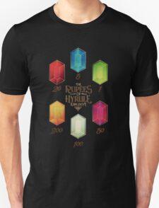 Legend of Zelda The Rupees Geek Line Artly Unisex T-Shirt