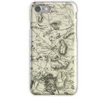 Old Northamptonshire map - Daventry iPhone Case/Skin