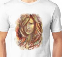 Olivia Wilde Portrait Tra Digital Painting Unisex T-Shirt