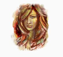 Olivia Wilde Portrait Tra Digital Painting Unisex T-Shirt