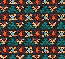 Ethnic seamless pattern. Aztec geometric background. Hand drawn navajo fabric. Modern abstract wallpaper. Vector illustration. by elenm