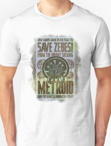 Metroid Propaganda Geek Line Artly  T-Shirt