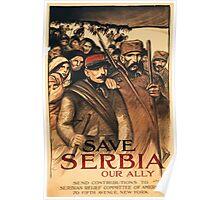 Théophile Alexandre Steinlen Save serbia Poster