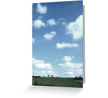 Blue sky at night Greeting Card