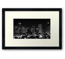 Denver In Black and White Framed Print