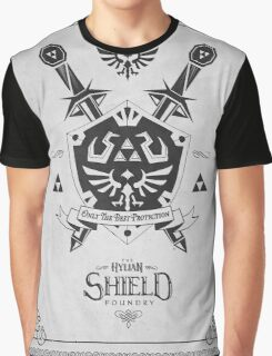 Legend of Zelda Hylian Shield Geek Line Artly  Graphic T-Shirt