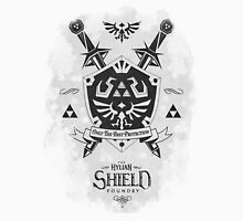 Legend of Zelda Hylian Shield Geek Line Artly  T-Shirt