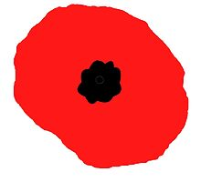 Armistice Day, Simple Poppy, Old Soldier, Remembrance Day, War, on White by TOM HILL - Designer