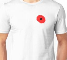 Armistice Day, Simple Poppy, Old Soldier, Remembrance Day, War, on White Unisex T-Shirt