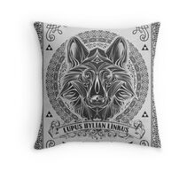 Legend of Zelda Twilight Princess Wolf Link Line Artly  Throw Pillow