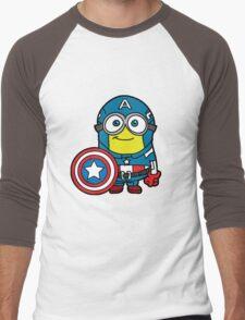 Captain Minerica Men's Baseball ¾ T-Shirt