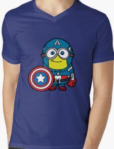 Captain Minerica Mens V-Neck T-Shirt