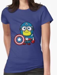 Captain Minerica Womens Fitted T-Shirt