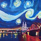 Starry Night in Cologne - Van Gogh Inspirations by artshop77