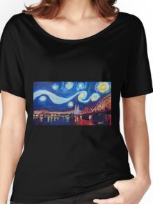 Starry Night in Cologne - Van Gogh Inspirations Women's Relaxed Fit T-Shirt