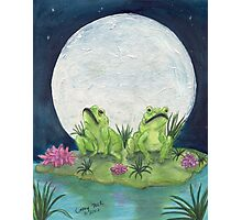 Frogs Full Moon Lily Pad Wildlife Cathy Peek Photographic Print