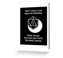 D20 Critical failure - Medicine  Greeting Card