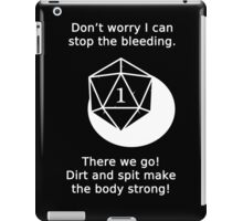 D20 Critical failure - Medicine  iPad Case/Skin