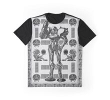 Metroid Samus Aran Geek Line Artly Graphic T-Shirt