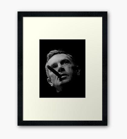 Dr Strlove - Black Transparency Framed Print