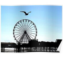 Blackpool Big Wheel Central Pier Poster
