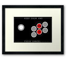Focus Cancel Framed Print