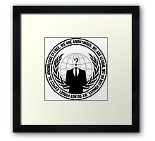 Anonymous Logo with Slogan Framed Print