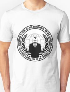 Anonymous Logo with Slogan T-Shirt