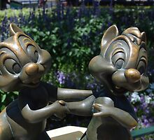 Chipmunks Chip Dale  by notheothereye