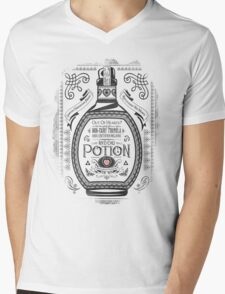 Legend of Zelda Red Potion Geek Line Artly Mens V-Neck T-Shirt