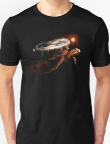 Turtle World - Space black transparency T-Shirt