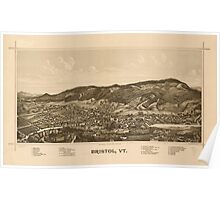 Panoramic Maps Bristol Vt Poster