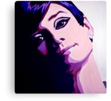 Audrey Hepburn in pop art by db Artstudio Canvas Print