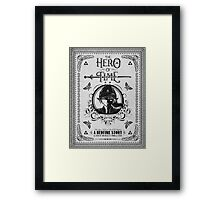 Legend of Zelda Link Hero of Time Geek Line Artly Framed Print