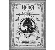 Legend of Zelda Link Hero of Time Geek Line Artly Photographic Print