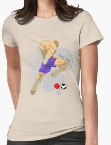 Tiger knee Womens Fitted T-Shirt