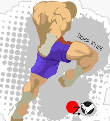 Tiger knee Sticker