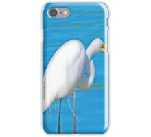 White Crane Fishin iPhone Case/Skin