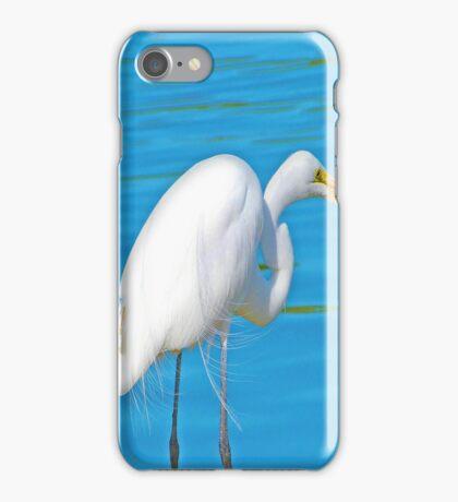 White Crane Fishin iPhone Case/Skin
