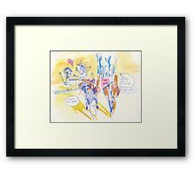 Discouraging Or Truthful  Framed Print