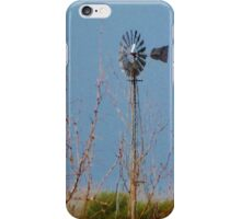 Windmill painting iPhone Case/Skin