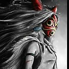 Mononoke Wolf Anime Tra Digital Painting by barrettbiggers