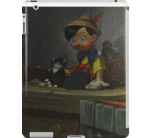 Wooden Puppet Real Boy Pinocchio Figaro Cleo iPad Case/Skin