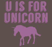 U Is For Unicorn One Piece - Short Sleeve