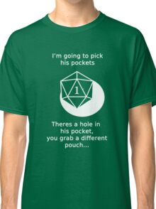 D20 Critical failure - Sleight of Hand Classic T-Shirt
