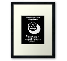 D20 Critical failure - Sleight of Hand Framed Print