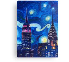Starry Night in New York - Van Gogh inspired Canvas Print
