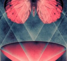 Beautiful Symmetry Surreal Butterfly Sticker