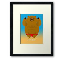 SWIM BEAR! Framed Print