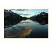 Waterton Lake Sunset Art Print